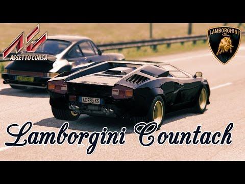 Lamborghini Countach - Мощная зверюка в годах в игре Assetto Corsa