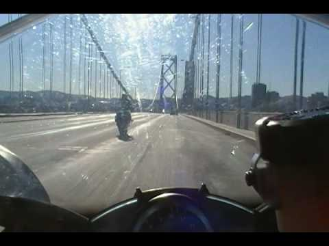 Bullo Crashes on Bay Bridge Doing a Wheelie