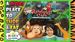 Rainforest Cafe Restaurant with Kids Amusement Rides