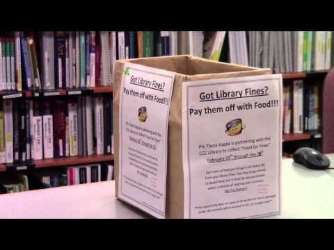 Food for fines at Clackamas Community College