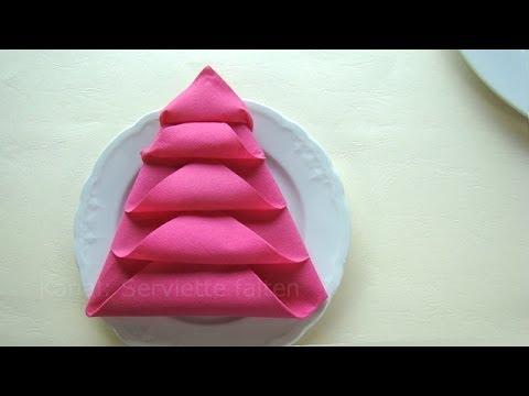 weihnachtsdeko basteln servietten falten weihnachten weihnachtsbaum youtube. Black Bedroom Furniture Sets. Home Design Ideas