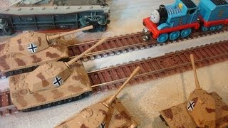 """Thomas The Train"" WW2 war movie,Thomas versus-Africa Korps,stop motion"
