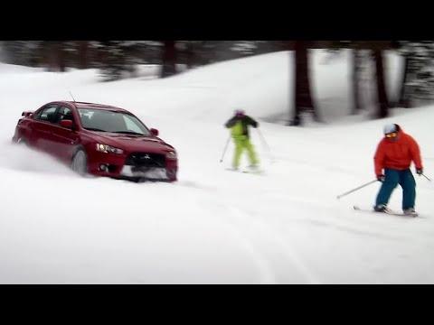 Evo versus Skiers - Top Gear USA - Series 1