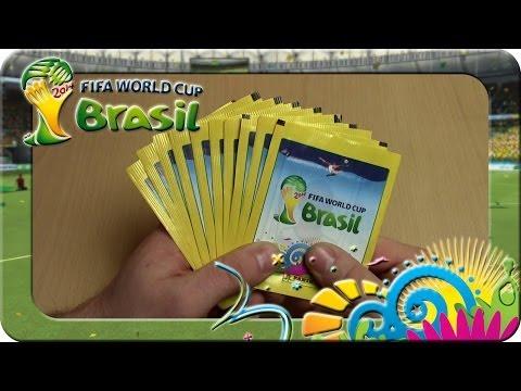 Panini Fifa World Cup Brasil 2014 Sticker 10 Päckchen Unboxing