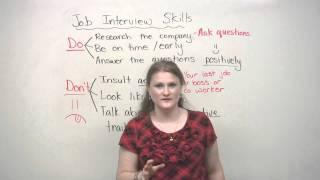 Job Interview Skills - DOs and DON'Ts