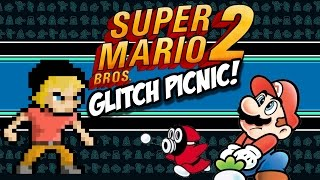 Super Mario Bros 2 Glitch Picnic | Super Mario Bros 2 Glitches (NES) | MikeyTaylorGaming