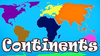 Kid Songs   Seven Continents Song for Children   The Continents Song