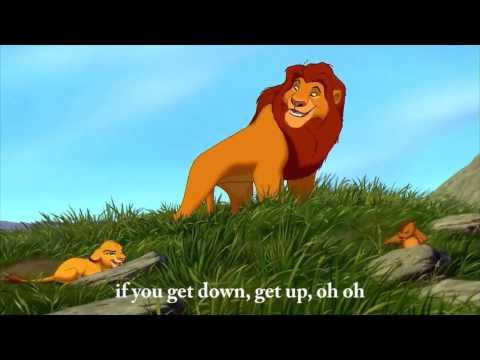 The Lion King - Waka Waka  - ♫ - Shakira -  English lyrics on screen