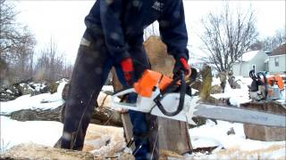 Stihl MS461 stock and ported chainsaw