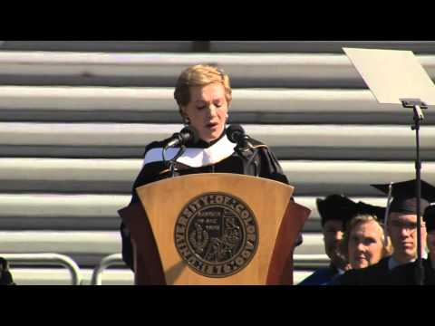 Julie Andrews CU Boulder Commencement Speech