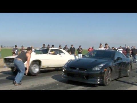 560hp GT-R vs MUSCLE - Cali Street Racing