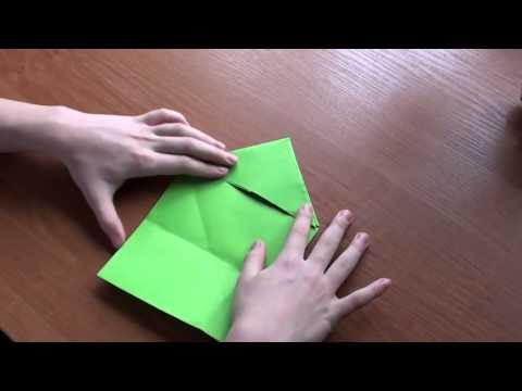 Оригами лягушка видео http://nashydetky.com