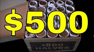 JACKPOT! $500.00 BANK SEALED HALF DOLLARS SEARCH | Coin Roll Hunting For Treasure With JD!