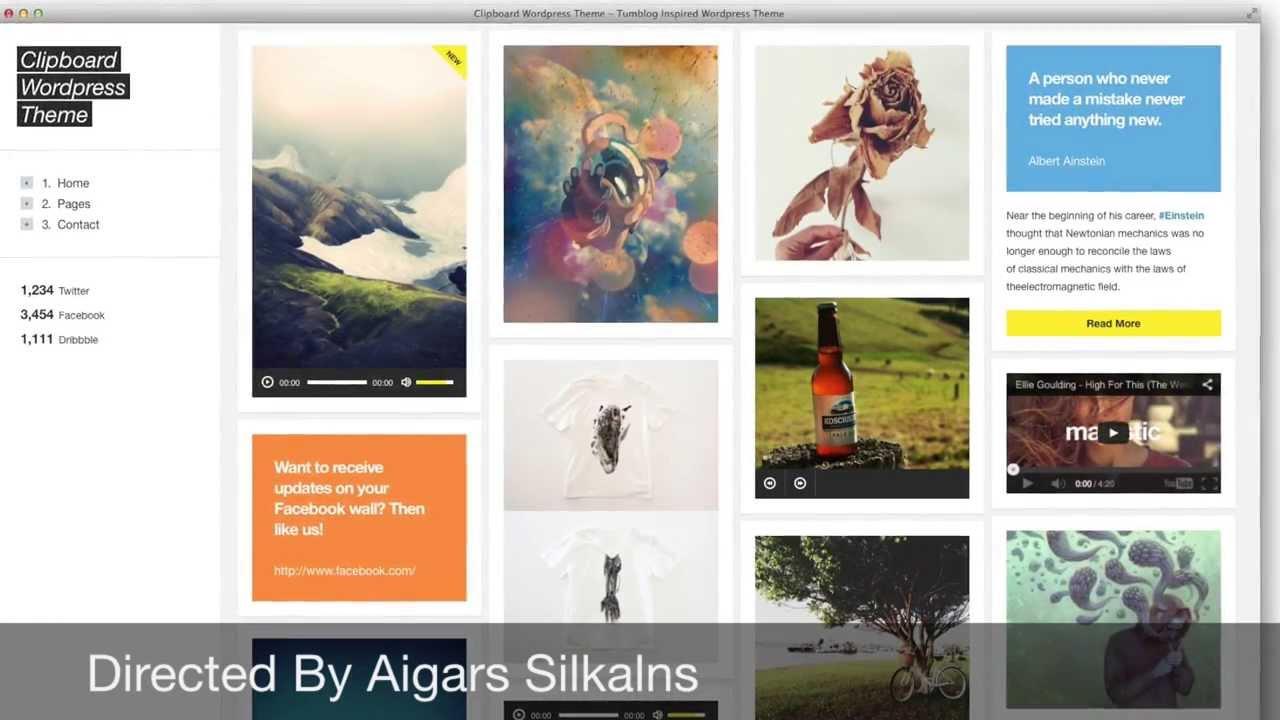 Portfolio Style Wordpress Themes Tumblr Style Wordpress Themes