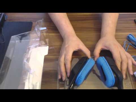 Logitech G430 Surround Sound Gaming Headset - Unpacking