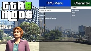GTA 5 PC MODS - GTA RPG v0.1.3 (Role Playing Game)