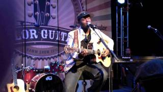 Javier Colon sings James Taylor's Never Die Young - NAMM 2012