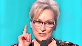 Meryl Streep Speech  Golden Globes 2017 speech called out Donald Trump at the Golden Globes