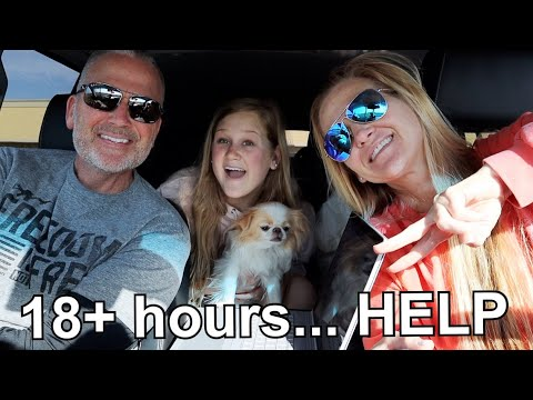 18 hour road trip with my WHOLE FAMILY - vlogmas day 1