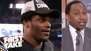 Lamar Jackson primed to have best playoff debut - Stephen A. | First Take