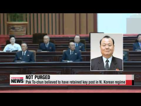 Pak To-chun believed to have retained key post in N. Korean regime   ″북한 국방