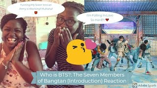 NON K-POP FAN REACTS| Who is BTS?: The Seven Members of Bangtan  (Sis Converting into Army)