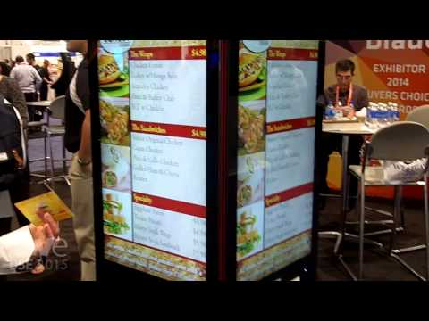 DSE 2015: Swedx Demos Blade Kiosk in Four-Sided Cube Configuration with 11Giraffes Content