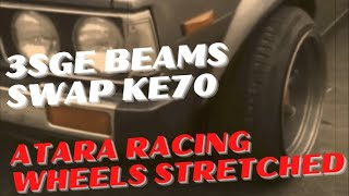 Toyota Corolla DX KE70 Atara Wheels: Video 2
