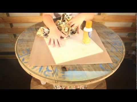 How-To wrap a wood board with fabric