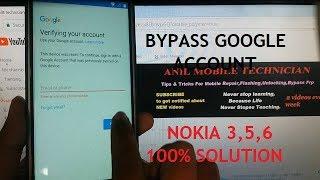 RESET FRP BYPASS GOOGLE ACCOUNT ALL NOKIA 3,5,7 100% SOLUTION 2018