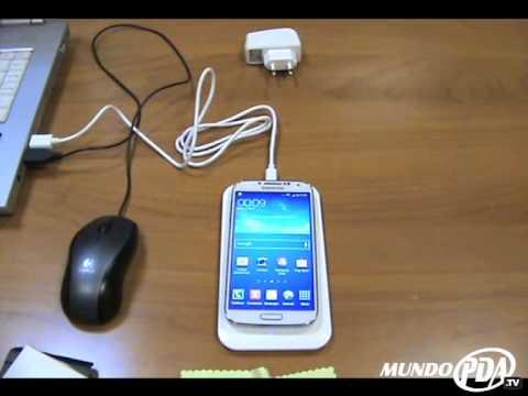 Carga inalámbrica Qi para Samsung Galaxy S4