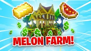 MELON FARMING! - Minecraft SKYBLOCK #23