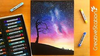 Night sky - Speed Drawing | CreativeStation