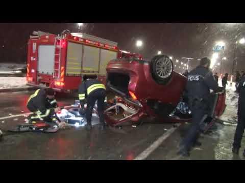 Gizli Buzlanma Yurtta Trafik Kazalarına Neden Oldu: 3 Ölü 15 Yaralı