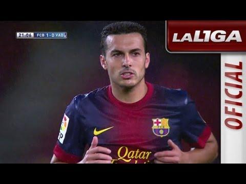 Gol de Pedro (1-0) en el FC Barcelona - Real Valladolid - HD