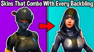 5 SKINS THAT COMBO WITH EVERY BACKBLING! (these skins match with EVERYTHING)