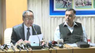LALROKHUMA PACHUAU IGP PRESS MEET ON 62ND ALL INDIA POLICE HOCKEY CHAMPIONSHIP-2013