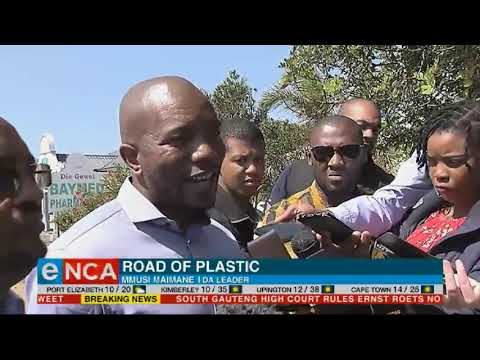 Construction has started on SA's  first plastic road