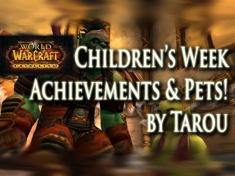 How to: Children's Week - Achievements & Pets (Matron/Patron Title) Guide!
