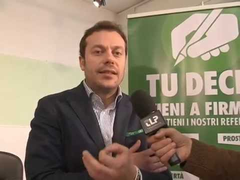 Conferenza Stampa  26 marzo 2014 Referendum - Intervista Zoffili
