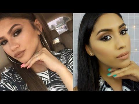 Zendaya Inspired Makeup Tutorial   Brown Smokey Eye + Light Brown/Nude Lips #4