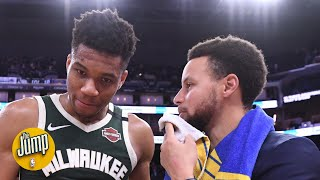 Steph told Giannis they should team up -- but says he didn't mean in the NBA | The Jump