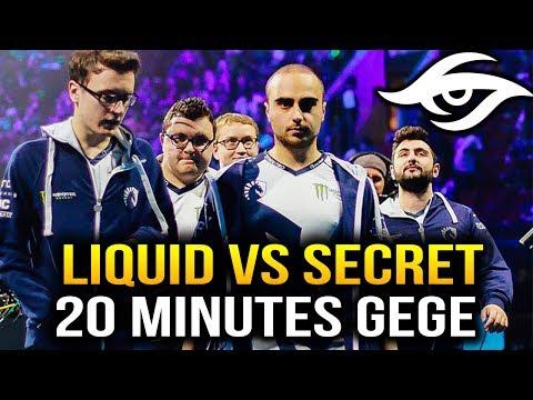LIQUID VS SECRET - 20 MIN GEGE DISASTER [Game 1] Dota 2 7.07