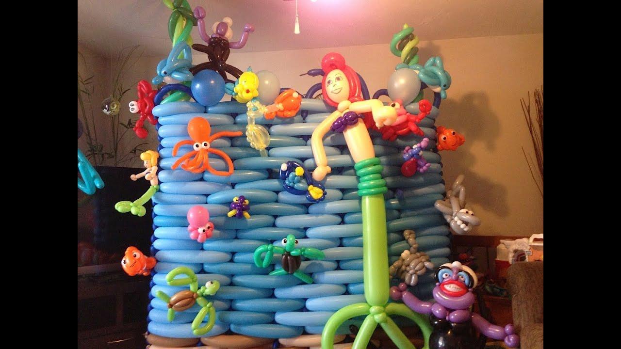 Under The Sea Balloon Animal Display Balloon Vlog 4