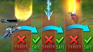 """Calculated """"Script Like"""" Movements - PERFECT DODGES - League of Legends"""