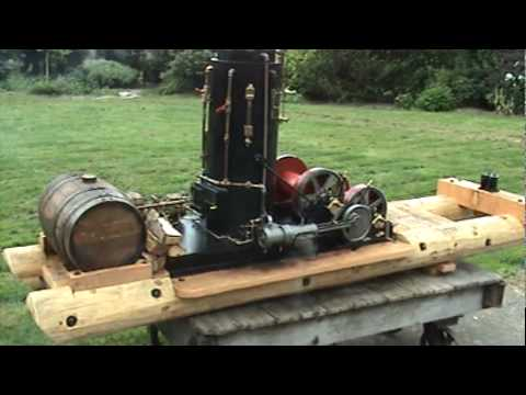 Quarter Scale Steam Donkey Yarding Logging Video