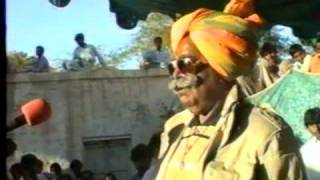 My grand father, Rana Chander Singh giving a speech in Mithi in the 1997 elections