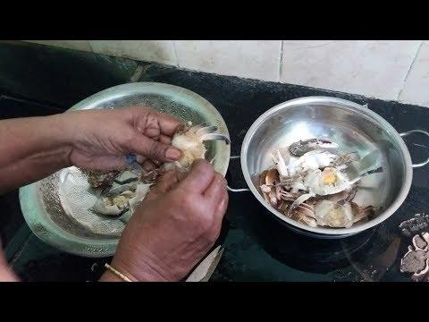 How to clean Crab in Tamil | நண்டு சுத்தம் செய்வது எப்படி?