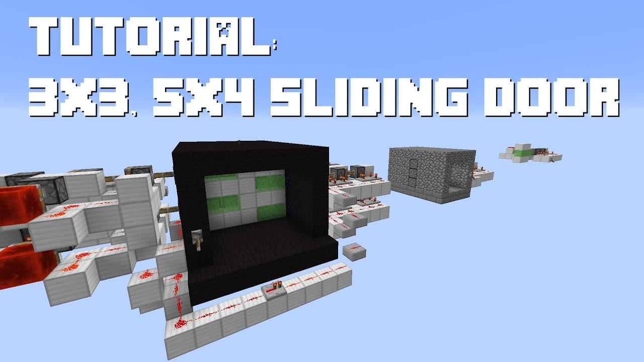 Minecraft Piston Door 3x3 Minecraft Sliding Piston Door