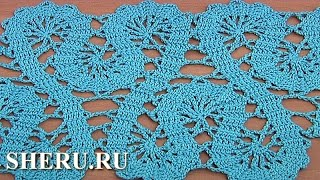 Crochet Lace of the Buges Tutorial 19 Part 1 of 2 Кайма или лента в технике брюггского кружева